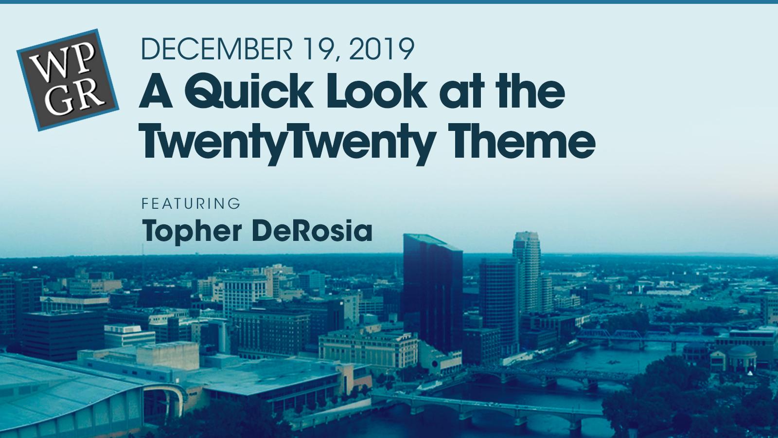 Banner: A quick look a the TwentyTwenty theme.